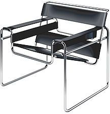 illustraton Bauhaus Wassily chair by Marcel Breuer - 80005-140-1
