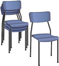illustraton metal-framed stacking chairs - 80005-190-1