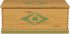 illustraton wooden storage chest - 80005-310-1