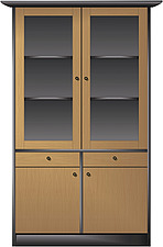 illustraton double glass-fronted display cabinet - 80005-380-1