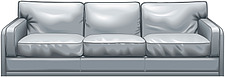 illustraton three-seater sofa - 80005-90-1