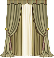 illustraton  full-length curtains - 80006-100-1