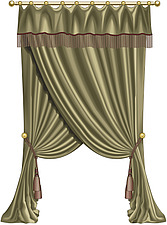 illustraton swagged curtains - 80006-150-1