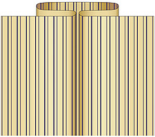 illustraton box pleat - 80006-160-1