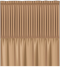 illustration  pencil pleat curtain heading - 80006-200-1