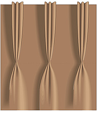 illustration pinch pleated curtain heading - 80006-210-1