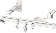 illustration curtain rail with fixings and hooks - 80006-250-1