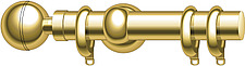 illustration brass curtain pole with fixings - 80006-270-1