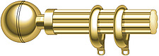 illustration grooved curtain pole with curtain rings - 80006-290-1