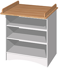 illustraton wooden changing table - 80006-60-1