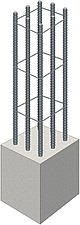 illustration steel reinforcing bars for concrete - 80008-120-1