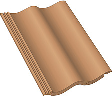 Illustration roof pantile - 80008-150-1