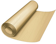 illustration roll of wood laminate - 80008-370-1