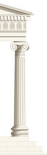 illustration Ionic order column - 80010-40-1