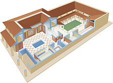 illustration Roman house - 80010-60-1