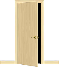 Illustration flush door - 80012-10-1