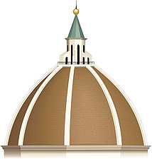 Illustration domed roof - 80012-140-1