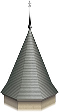 Illustration octgonal turret roof - 80012-160-1