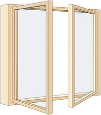 Illustration french windows - 80012-230-1