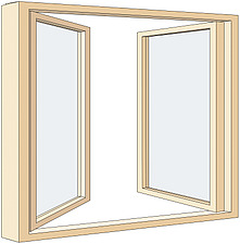 Illustration double casement window - 80012-240-1