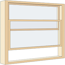 Illustration sash window - 80012-290-1