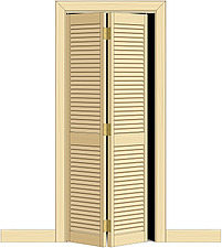 Illustration bifolding, louvered  door - 80012-30-1