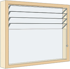 Illustration window with glass louvres - 80012-300-1