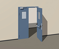 Illustration fire door - 80012-330-1