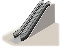 Illustration escalator - 80012-380-1