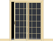 Illustration sliding door - 80012-40-1