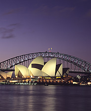 Opera House with Harbour Bridge in background, Sydney - 11034-110-1