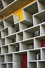 Le Corbusier, High Court facade detail, Capitol Complex, Chandigarh, Punjab, India - 13006-20-1