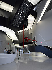 Main atrium, front desk and exhibition space at the MAXXI, National Museum of 21st Century Arts, Rome - 12857-180-1