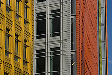 Colourful, facade of office building, London, England - 13160-140-1