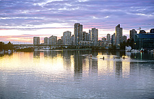 British Columbia, Vancouver, sunset on False Creek and Yaletown,  - 13165-80-1