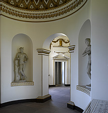 Classical statues in  niches in Apse , Gallery, Chiswick House, Chiswick, London - 13158-50-1
