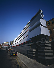 TV AM Television Studios, Hawley Crescent, Camden Lock, London, 1983 - 232-120-1