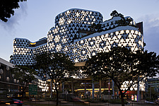 Exterior of Iluma shopping and cinema complex in Sinagpore by WOHA - 12964-170-1