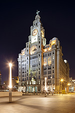 The Liver Building at Pier Head in Liverpool, Merseyside, England, UK - 13238-800-1