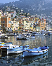 Cote d'Azur, Villefranche-sur-Mer, view on town and port - 13246-50-1