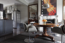 Dining room with open plan kitchen, London, UK - 13289-20-1