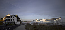 Turner Contemporary and old buildings on the coast, Margate, Kent - 13265-240-1