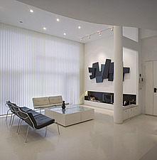 White apartment, Beijing, arranged on four floors, designed by Zhang Zi Hui and Chen Yi Lang - 13320-230-1