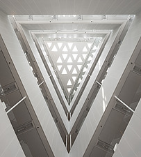 Interior view of The Crystal showing the atrium, Copenhagen - 13465-190-1
