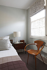 Bedroom showing Paul Cherner retro chair next to bed - 13552-140-1