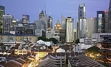 Singapore cityscape at dusk - 13737-10-1