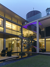 Lit glass exterior of Private Residence, Singapore - 13745-370-1