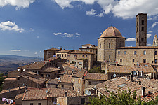 View over rooftops of Volterra Siena province Tuscany Italy  - 13767-80-1