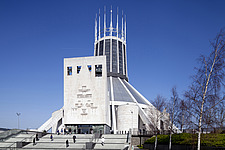 Front View - Metropolitan Cathedral, Liverpool,  - 13869-290-1