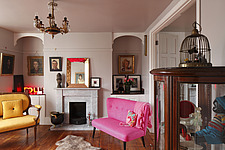 Drawing room with 2 arched recesses either side of marble fireplace - 14200-20-1